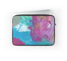 Abstract Painting in magenta and cyan 11/18 Laptop Sleeve
