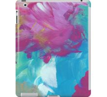 Abstract Painting in magenta and cyan 11/18 iPad Case/Skin