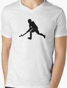 Field hockey player Mens V-Neck T-Shirt