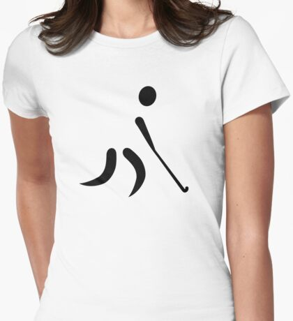 Field hockey player Womens Fitted T-Shirt