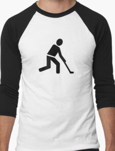 Field hockey player symbol Men's Baseball ¾ T-Shirt