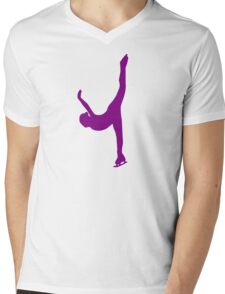 Figure skating woman Mens V-Neck T-Shirt