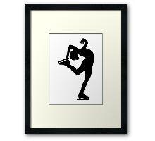 Figure skating Framed Print