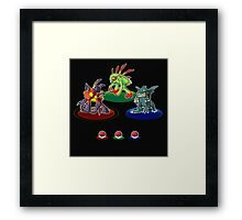 Choose your starter! Framed Print