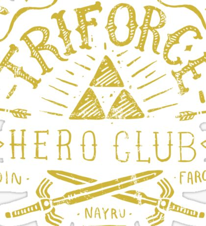 Triforce Hero Club Sticker