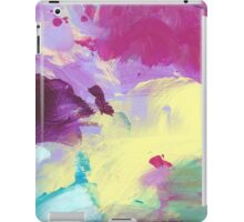 Abstract Painting in violett and yellow 10/18 iPad Case/Skin