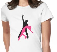 Figure skating couple Womens Fitted T-Shirt