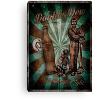 Zombies Double Dew Perk Poster Canvas Print