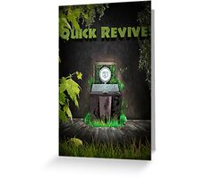 Quick Revive Soda Perk Poster Greeting Card