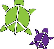 Peace Turtles by PeaceLoveTurtle