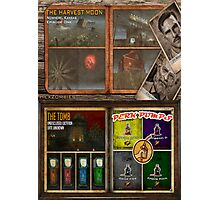 Custom Zombies Loading Screens Poster - Tomb & Harvest Moon Photographic Print