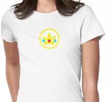 Princess Peach Crown Womens Fitted T-Shirt