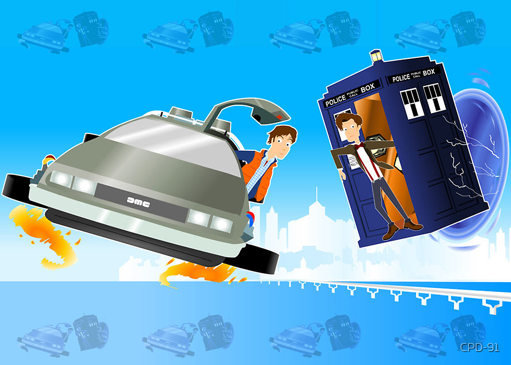 Doctor Who Back  to the Future by CPD-91
