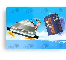 Doctor Who Back  to the Future Metal Print