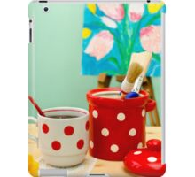 Red and White Polka-dot Still Life iPad Case/Skin