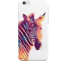 The Aesthetic - Watercolor Zebra Illustration iPhone Case/Skin