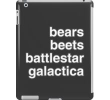 bears, beets, battlestar galactica iPad Case/Skin