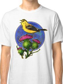 goldfinch on thistle t-shirt design Classic T-Shirt