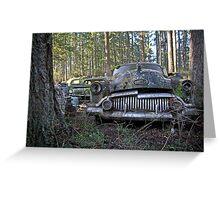Buick Eight Grill - Trust Salvage - Auburn WA Greeting Card