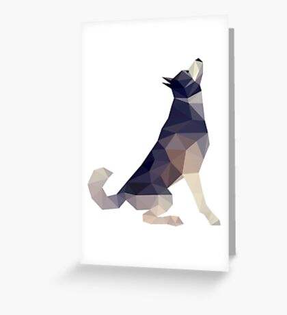 Husky Dog Illustration Greeting Card