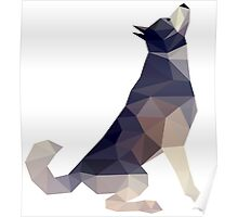 Husky Dog Illustration Poster