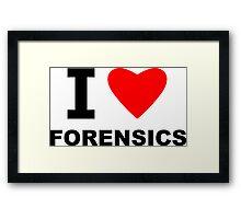 I Love Forensics Framed Print