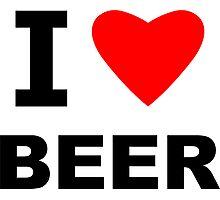 I Love Beer Photographic Print