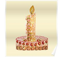 Strawberry cake for Christmas Poster