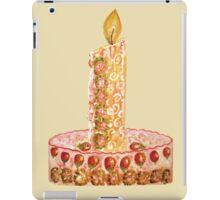 Strawberry cake for Christmas iPad Case/Skin