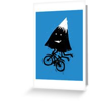 Mountain Biking Greeting Card