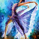 PURPLE BALLET by Leonid  Afremov