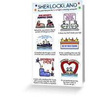 Sherlockland (card) Greeting Card