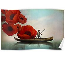 Red Flowers Poster
