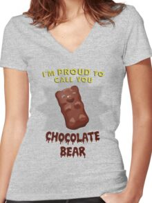 Scrubs - Chocolate Bear Women's Fitted V-Neck T-Shirt