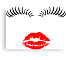 Eye Lashes and Kiss Canvas Print