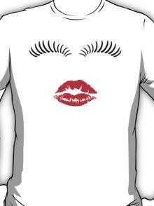 Eye Lashes and Kiss T-Shirt