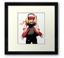 Red & Pikachu Framed Print
