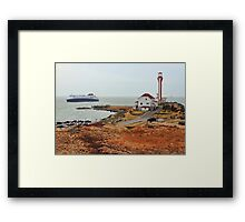 Nova Star Ferry Rounds Cape Forchu for the First Time Framed Print