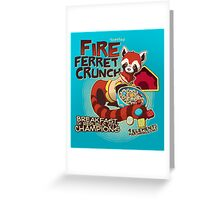 Fire Ferret Crunch Greeting Card
