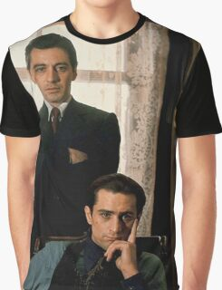 The Godfather - Al Pacino, Robert De Niro Graphic T-Shirt