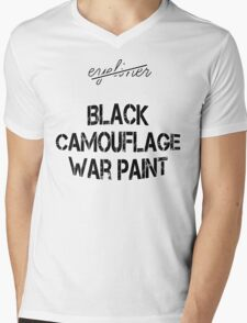 The right words are black camouflage war paint Mens V-Neck T-Shirt