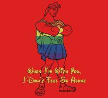 Rainbow Hercules Red Shirt by instinCKt