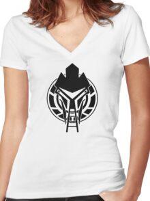 Cylon Logo Women's Fitted V-Neck T-Shirt