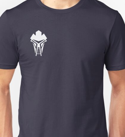 Cylon Mask Small Logo Unisex T-Shirt
