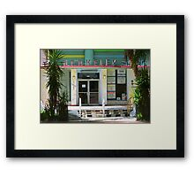 Miami Beach Hotel Framed Print