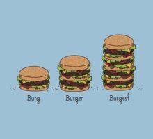 Burger explained: Burg. Burger. Burgest Baby Tee