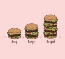 Burger explained: Burg. Burger. Burgest One Piece - Long Sleeve
