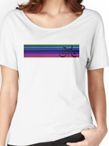 blue and purple bike Women's Relaxed Fit T-Shirt