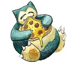 Pokemon pizza party- Snorlax by cutiecraftings