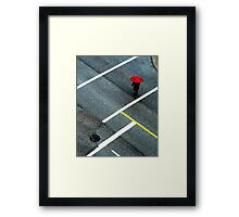 red cross Framed Print